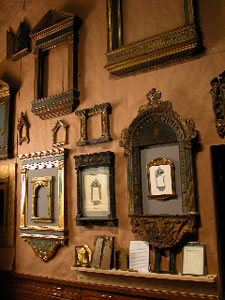 Gold Leaf Studio frames on display